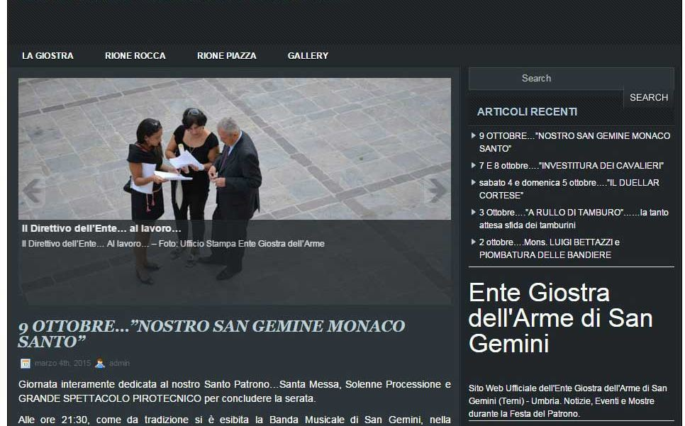 web design terni ente giostra arme sangemini stefano ferri siti web