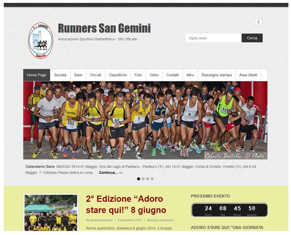 web design terni runners sangemini stefano ferri siti web