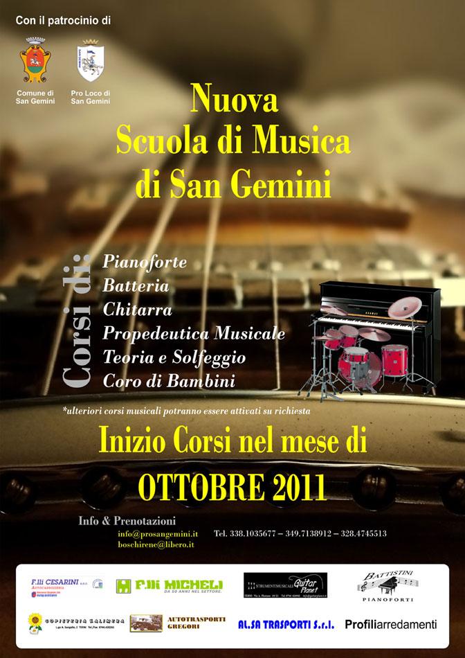 locandina corsi di musica scuola di musica sangemini 2011