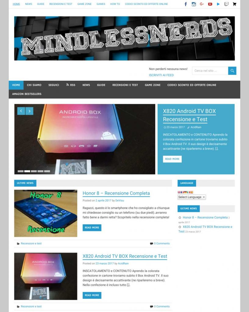 mindless nerds mindlessnerds recensioni mobile informatica sconti